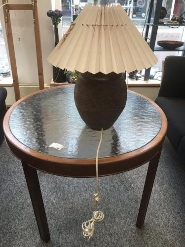 Cuba mahogni sofabord m. frostet glaspladeDiameter 79 cmH. 61 cm