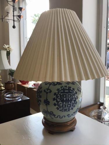 Japansk bordlampe med skærm950.-kr