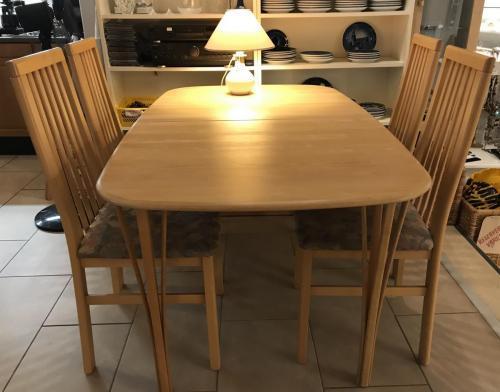 Spisebord i bøg med 1 pladeHaslev møbelfabrik995.-kr